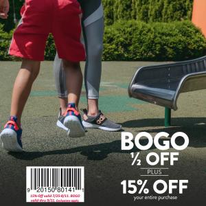 BOGO 1/2 Sale at Famous Footwear