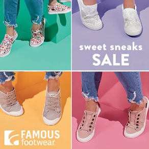 Sneaker Sale at Famous Footwear from 39.99